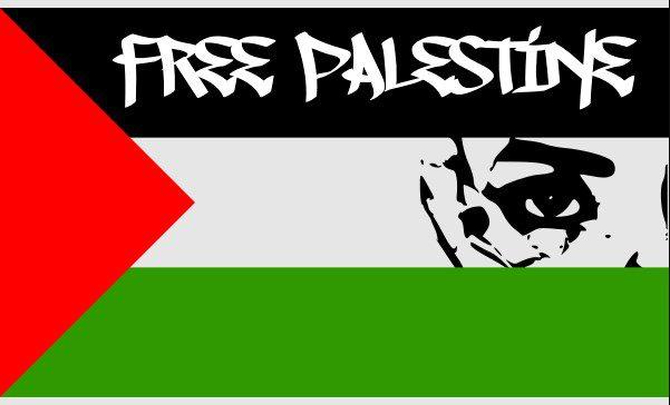 Ilustrasi poster pembebasan Palestina. FreeSVG/Lingkar.co