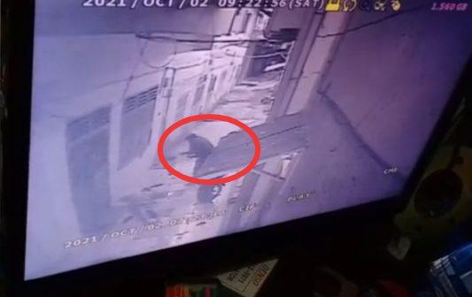 Rekaman CCTVdi lokasi kejadian. FOTO: Matius Gea/Lingkar.co