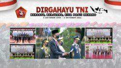 Presiden Jokowi, memimpin upacara peringatan HUT ke-76 TNI, di halaman Istana Negara, Jakarta, Selasa (5/10/2021). FOTO: Tangkap layar YouTube Setpres/Lingkar.co