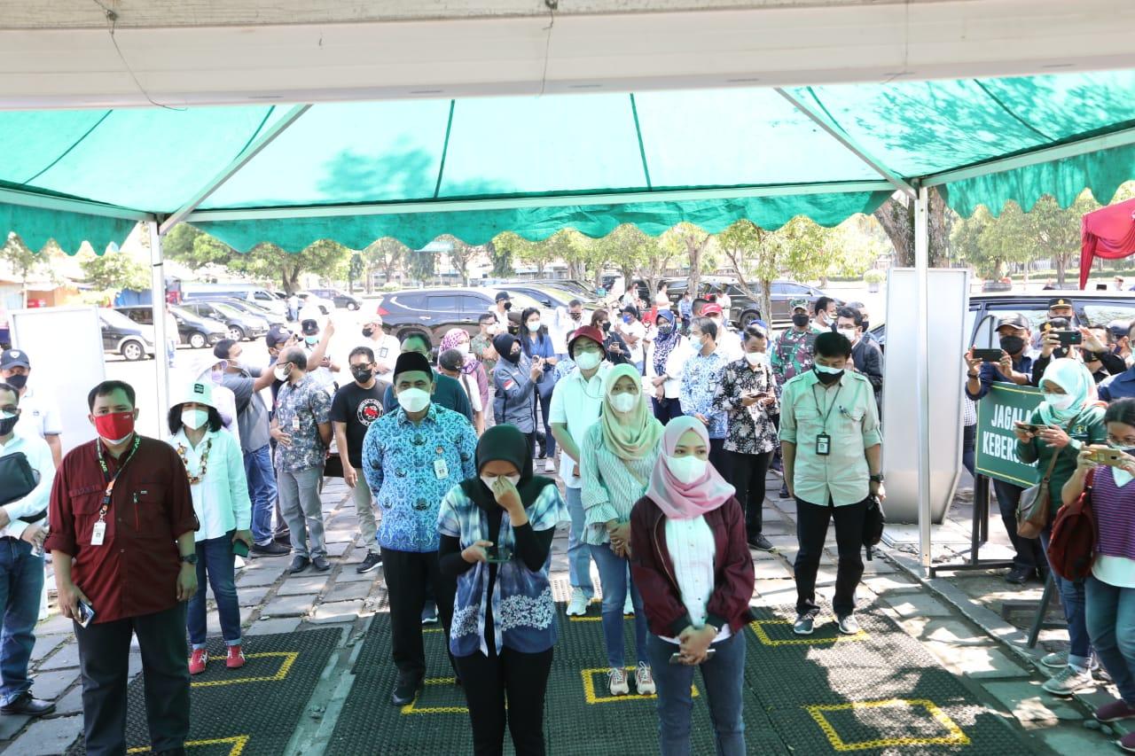 ILUSTRASI- Uji coba pembukaan wisata Borobudur dengan penggunaan Scan QR Code) PeduliLindungi, beberapa waktu lalu. FOTO: Ist/Lingkar.co