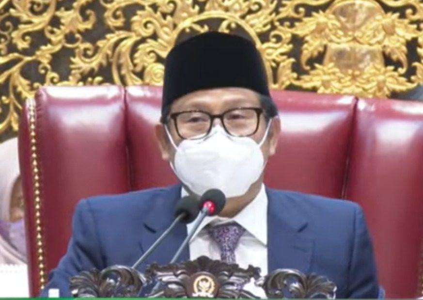 Wakil Ketua DPR RI Muhaimin Iskandar, saat memimpin sidang paripurna di Gedung Nusantara II, Jakarta, Kamis, (7/10/2021). FOTO: Tangkap layar/Lingkar.co
