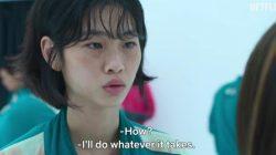 Akting Jung Ho Yeon di Film yang sedang trending Squid Game di Netflix, Ho Yeon menjadi duta Global Luis Vuitton. NETFLIX/LINGKAR.CO