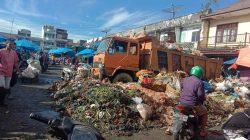 Pasar Pasar Dwikora Jalan Gotong Royong, Kecamatan Siantar Utara, Kota Siantar. Matius Gea/Lingkar.co